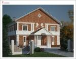 Двухэтажный коттедж в классическом стиле. Зеленоградск