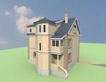 Трёхэтажный дом с мансардой