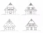 Врианты оформления фасада в стиле фахверк. Низовье